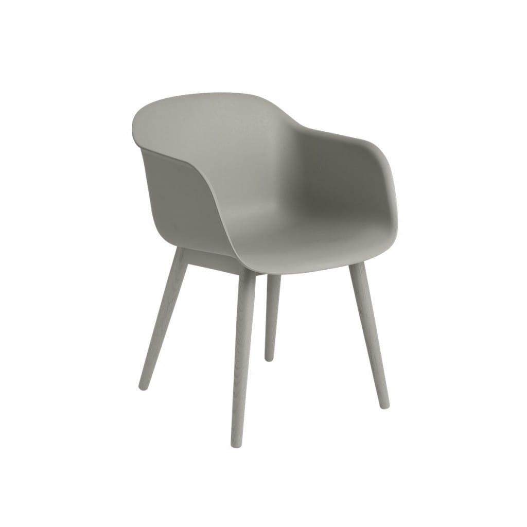 Fiber Chair - Woodbase - Grey