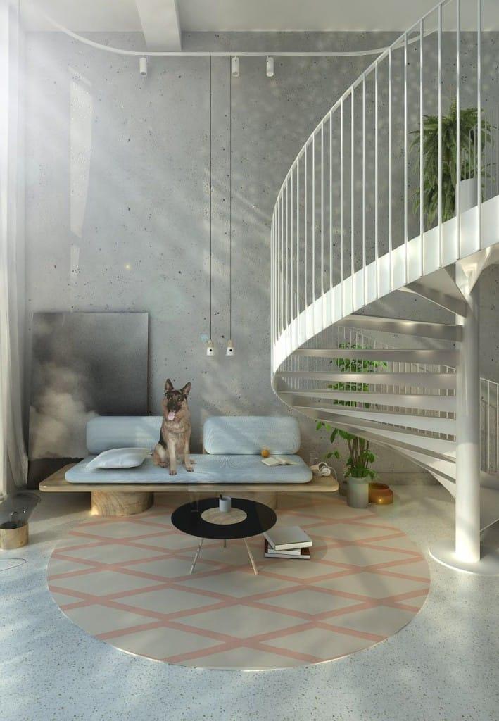 Image render of Staircase in GIR store