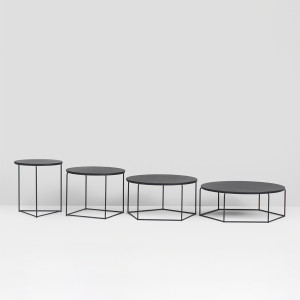 Poly-top - Set of tables - Black