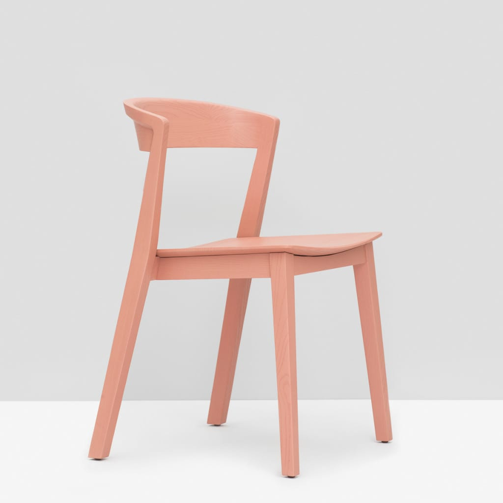 Brida Chair without Armrest - Dusty Pink