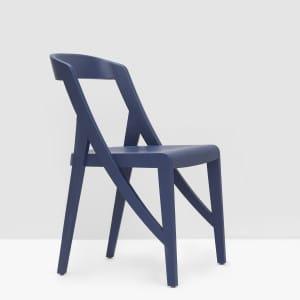Wood-lock Chair - Dark Blue
