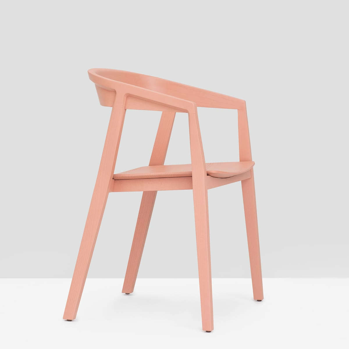 Brida Chair with Armrest - Dusty Pink