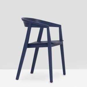 Brida Chair with Armrest - Dark Blue