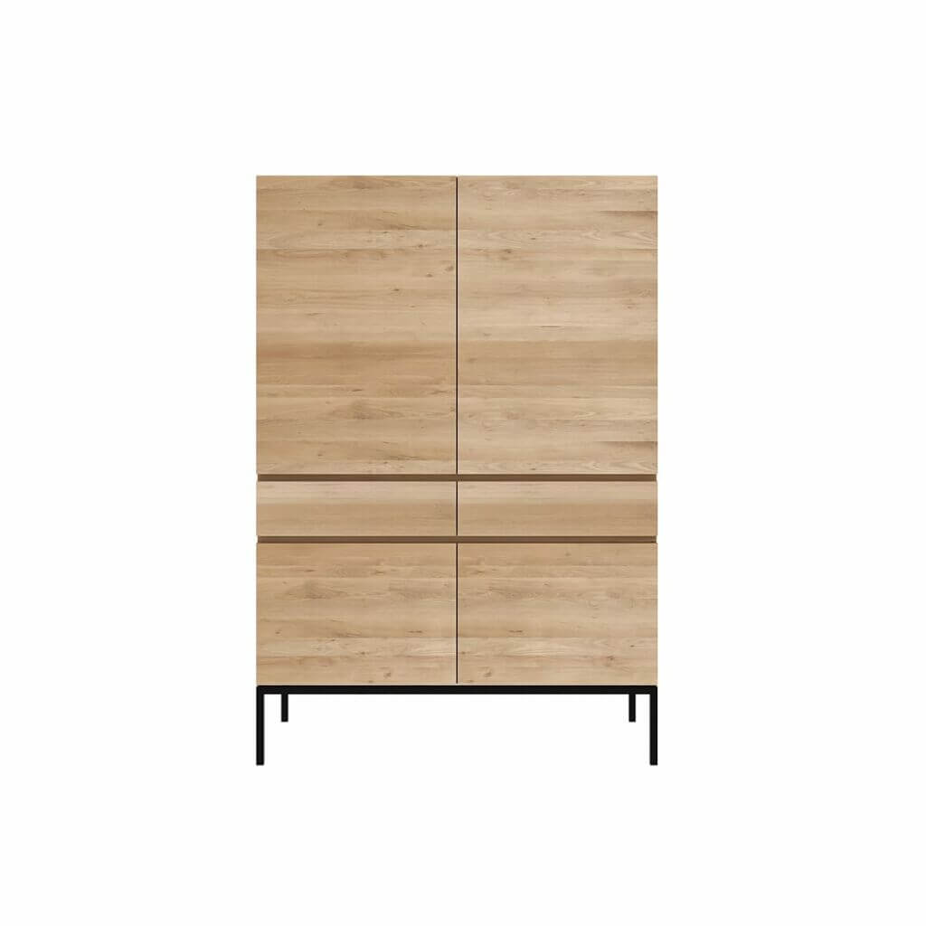 Ligna Storage Cupboard - Black legs