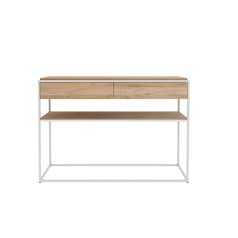 Oak Monolit console - Natural : White