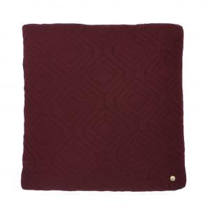 Quilt Cushion - Burgundy