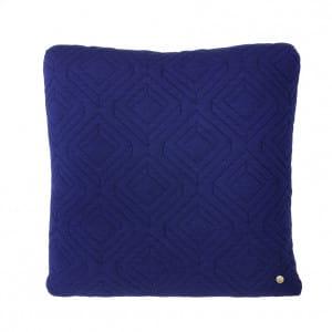 Quilt Cushion - Dark Blue