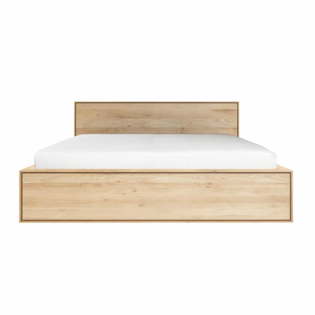 Oak Nordic II bed - 4 drawers
