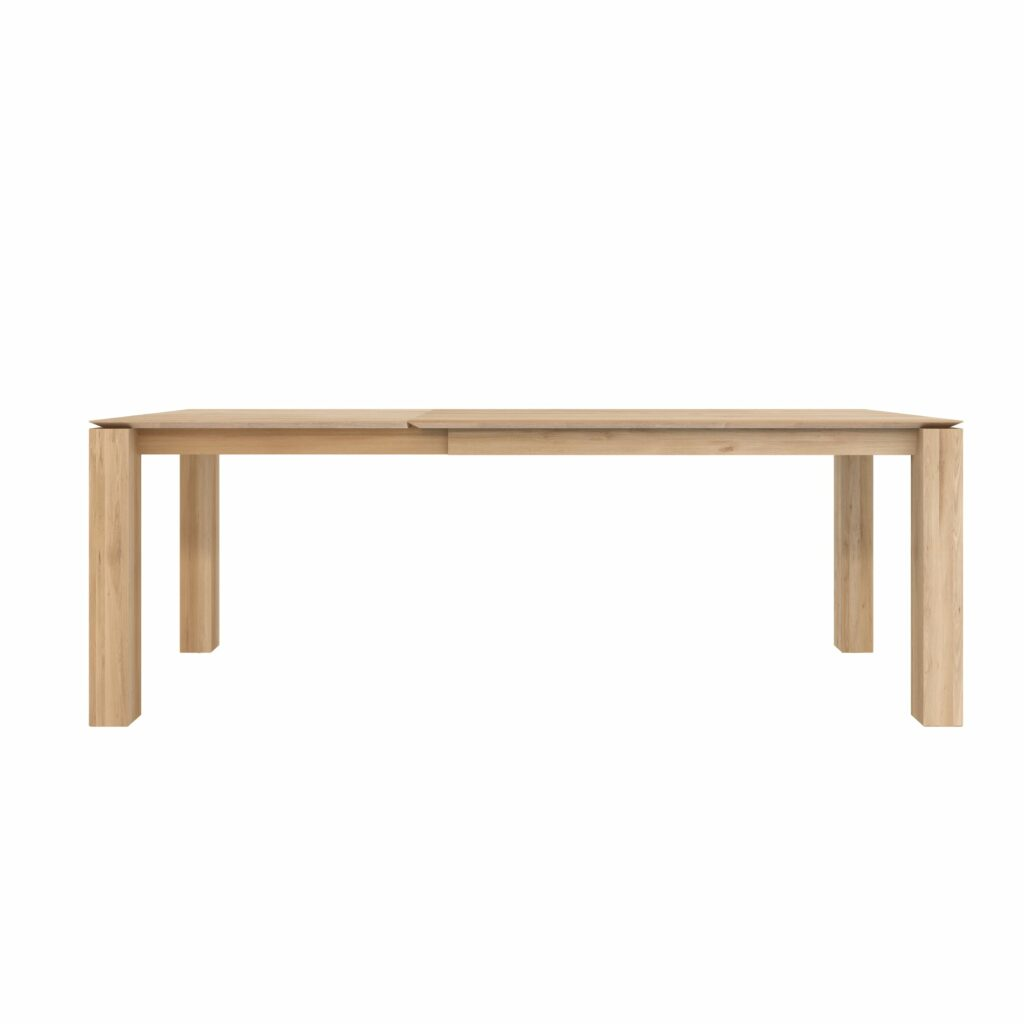 Slice extendable dining table - Oak